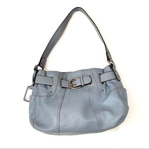 TIGNANELLO baby blue pebbled,leather shoulder bag